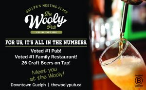 the wooly pub advertising image